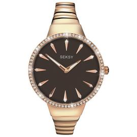 Sekonda Women's Quartz Watch with Brown Dial Analogue Display and Rose Gold Bracelet 2219.37 Best Price and Cheapest
