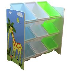 Liberty House Safari Storage Unit with 9 Plastic Bins