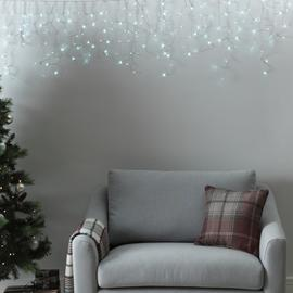 Argos Home 720 Bright White Icicle Lights - 12m