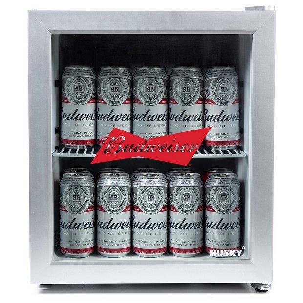 Buy Husky Budweiser 46 Litre Drinks Cooler Silver Mini Fridges Argos