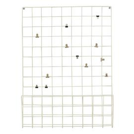 Argos Home Metal Notice Board with Pegs - White