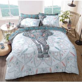 Argos Home Elephant Mandala Bedding Set - Double