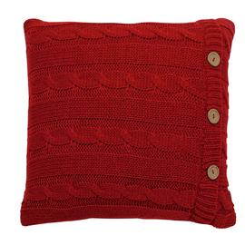 Sainsbury's Home Knitted Cushion - Red