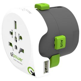 Q2Power 2.1 Amp USB All-in-One World Travel Adapter