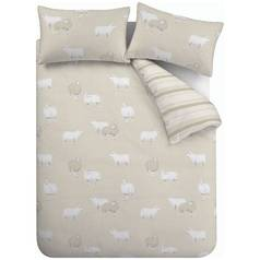 Catherine Lansfield Sheep Natural Bedding Set – Single