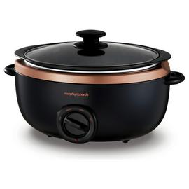 Morphy Richards 3.5L Sear and Stew Slow Cooker - Rose Gold
