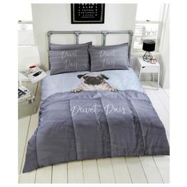 Argos Home Daytime Pug Bedding Set - Double