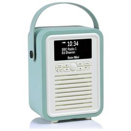 VQ Retro Mini DAB / FM Radio / Bluetooth Speaker - Mint