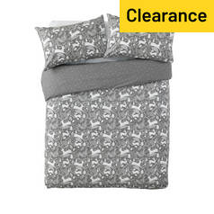 Argos Home Stag Print Brushed Cotton Bedding Set - Double