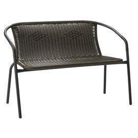 Argos Home Steel Wicker 2 Seater Garden Bench - Brown