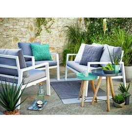 Argos Home Sitges Aluminium 4 Seater Sofa Set - Light Grey