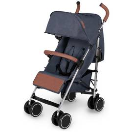 Ickle Bubba Discovery Stroller - Denim Blue on Silver