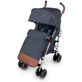 Ickle Bubba Discovery Max Stroller - Blue on Silver