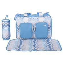 My Babiie Sam Faiers Deluxe Changing Bag - Blue Chevron