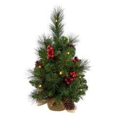 argos home traditional pre lit hessian christmas tree 15ft