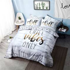 Argos Home Chill Slogan Bedding Set - Double