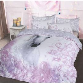 Argos Home Pretty Unicorn Bedding Set - Double