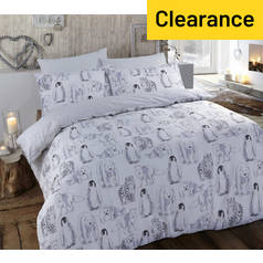 Argos Home Winter Animals Bedding Set - Double