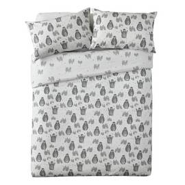 Argos Home Penguin Brushed Cotton Bedding Set - Kingsize