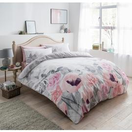 Argos Home Faded Flowers Bedding Set - Single
