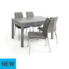 Argos Home Lyssa Extendable Grey Table And 4 Chairs