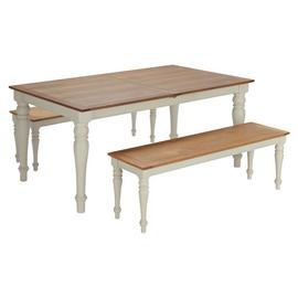 Argos Home Woodbury Dining Table & 2 Benches