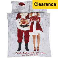 Catherine Lansfield Selfie Santa Bedding Set – Double