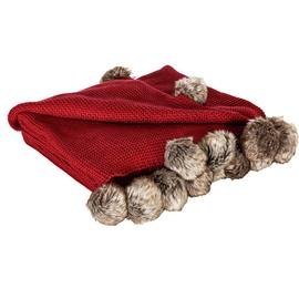 Sainsbury's Home Knitted Pom Pom Throw