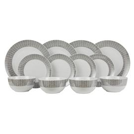 Argos Home 12 Piece Metallic Geo Dinner Set