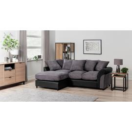 Argos Home Harry Left Corner Fabric Sofa - Charcoal