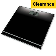 Salter Large Display Glass Electronic Bathroom Scale