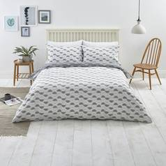 Argos Home Slate Circle Print Bedding Set - Double