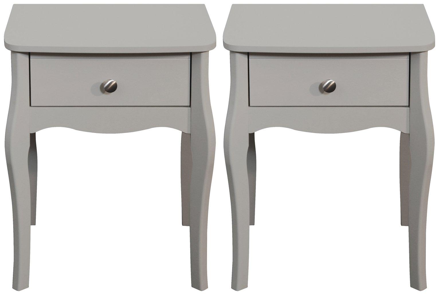 Grey Bedside Cabinets Argos