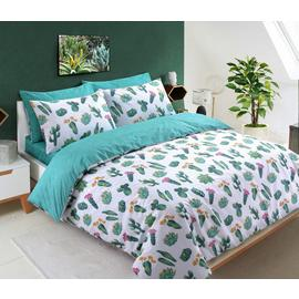 Argos Home Tropical Cactus Bedding Set - Double
