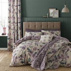 Catherine Lansfield Painted Floral Plum Bedding Set – Single