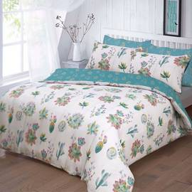 Argos Home Summer Cactus Bedding Set - Double