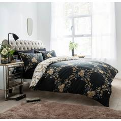 Argos Home Black Floral Damask Bedding Set - Double