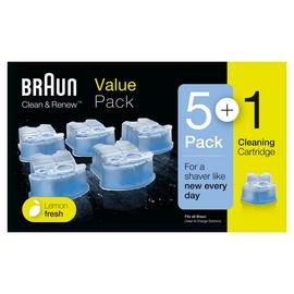 Braun Clean and Renew Shaver Cartridges - 6 Pack