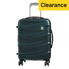 IT Luggage 8 Wheel Expandable Suitcase - Turquoise