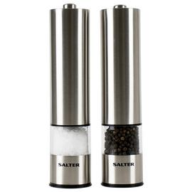 Salter Stainless Steel Electronic Salt and Pepper Mill