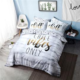 Argos Home Chill Slogan Bedding Set - Kingsize
