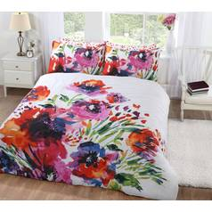 Argos Home Abstract Floral Bedding Set - Superking