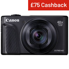 Canon PowerShot SX740HS 20.3MP 40x Zoom Camera - Black