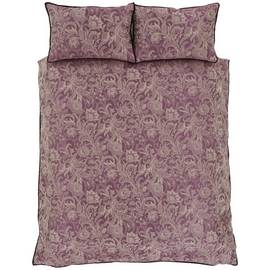 Catherine Lansfield Regal Jacquard Plum Bedding Set – Double