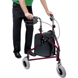 Three Wheel Rollator with Basket - Steel