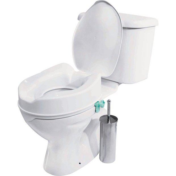 Buy Raised Toilet Seat with Lid | Raised toilet seats | Argos