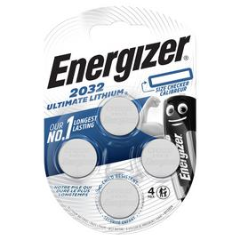 Energizer Ultimate Lithium 2032 Batteries - Pack of 4