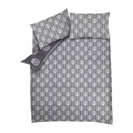 Catherine Lansfield Skulls Grey Bedding Set – Double