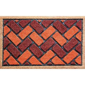 Dandy Red Brick Coir and Rubber Doormat - 45x75cm