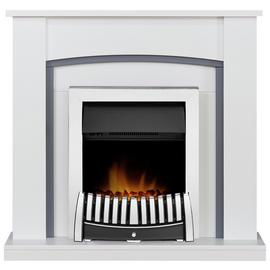 Adam Chilton Surround with Elise 2kW Fire Suite - White